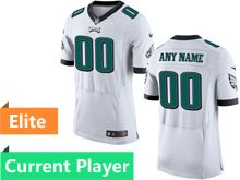Mens Philadelphia Eagles White Elite Current Player Jersey