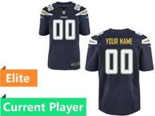 Mens Los Angeles Chargers Navy Blue Elite Current Player Jersey