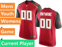 Mens Women Youth Nfl Tampa Bay Buccaneers Red Game Current Player Jersey
