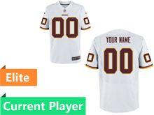 Mens Washington Redskins White Elite Current Player Jersey