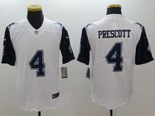 Mens   Dallas Cowboys #4 Dak Prescott White Color Rush Limited Jersey