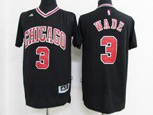 Mens Nba Chicago Bulls #3 Dwyane Wade Black Jersey