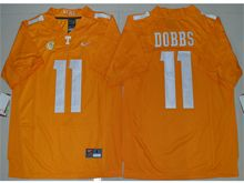 Mens Ncaa Nfl Tennessee Volunteers #11 Joshua Dobbs Orange Limited Jersey
