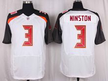 Mens Nfl Tampa Bay Buccaneers #3 Jameis Winston White Elite Jersey