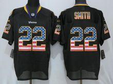 Mens Nfl Minnesota Vikings #22 Harrison Smith Black Usa Flag Fashion Elite Jersey