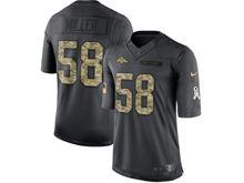 Mens   Denver Broncos #58 Von Miller Black Anthracite 2016 Salute To Service Jersey