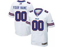 Mens Buffalo Bills Custom Made White Elite Jersey