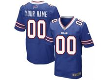 Mens Buffalo Bills Custom Made Blue Elite Jersey