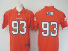 Mens Nfl Miami Dolphins #93 Ndamukong Suh Orange Vapor Untouchable Color Rush Limited Player Jersey