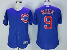 mens majestic chicago cubs #9 javier baez blue Flex Base jersey