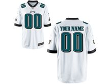 Mens Womens Youth Nfl Philadelphia Eagles (custom Made) White Game Jersey
