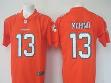 Mens Nfl Miami Dolphins #13 Dan Marino Orange Vapor Untouchable Color Rush Limited Player Jersey