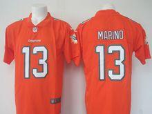 Mens Nfl Miami Dolphins #13 Dan Marino Orange Vapor Untouchable Color Rush Limited Player Jersey