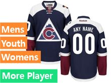 Mens Women Youth Reebok Colorado Avalanche Blue Alternate Premier Current Player Jersey