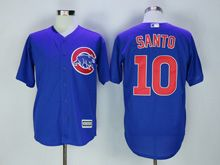 Mens Majestic Chicago Cubs #10 Ron Santo Blue Cool Base Jersey