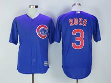 Mens Majestic Chicago Cubs #3 Ross Blue Cool Base Jersey