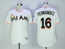 Mens Majestic Mlb Miami Marlins #16 Jose Fernandez White Flex Base Jersey