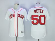 Mens Majestic Boston Red Sox #50 Mookle Betts White Flex Base Jersey