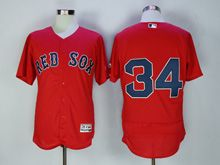 Mens Majestic Boston Red Sox #34 David Ortiz Red (no Name) Flex Base Jersey
