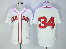 Mens Majestic Boston Red Sox #34 David Ortiz White (no Name) Flex Base Jersey