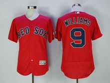 Mens Majestic Mlb Boston Red Sox #9 Ted Williams Red Flex Base Jersey