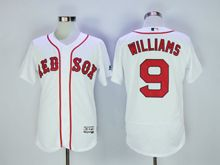 Mens Majestic Mlb Boston Red Sox #9 Ted Williams White Flex Base Jersey
