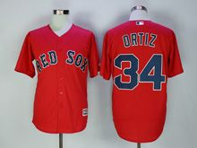 Mens Majestic Boston Red Sox #34 David Ortiz Red Cool Base Jersey