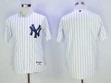Mens Mlb New York Yankees Blank White Stripe Cool Base Jersey