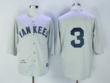 Mens Mlb New York Yankees #3 Ruth Gray 1929 Throwbacks Jersey
