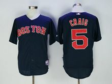 Mens Mlb Boston Red Sox #5 Craig Blue Jersey