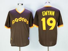 Mens Mlb San Diego Padres #19 Gwynn Brown Pullover Throwbacks Jersey