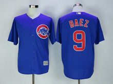 Mens Majestic Chicago Cubs #9 Javier Baez Blue Cool Base Jersey