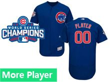 Mens Majestic Chicago Cubs Blue 2016 World Series Champions Flex Base Current Player Jersey