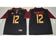 Mens Ncaa Nfl Florida State Seminoles #12 Deondre Francois Black Limited Jersey
