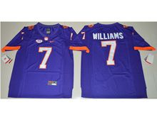 Mens Ncaa Nfl Clemson Tigers #7 Mike Williams Purple Limited Jersey