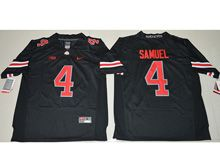 Mens Ncaa Nfl Ohio State Buckeyes #4 Curtis Samuel Blackout Jersey