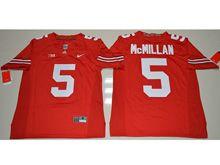 Mens Ncaa Nfl Ohio State Buckeyes #5 Raekwon Mcmillan Red Jersey
