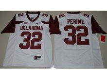 Mens Ncaa Nfl Oklahoma Sooners #32 Perine White Jersey