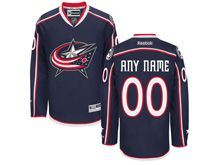 Nhl Columbus Blue Jackets (custom Made) Navy Blue Reebok Home Premier Jersey