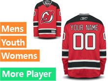 Mens Women Youth Reebok New Jersey Devils Red Home Premier Current Player Jersey