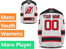 Mens Women Youth Reebok New Jersey Devils White Away Premier Current Player Jersey