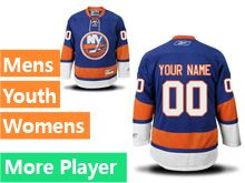 Mens Women Youth Reebok New York Islanders Blue Home Premier Current Player Jersey