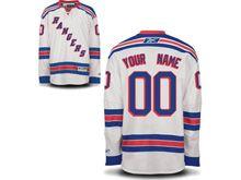Nhl New York Rangers (custom Made) White Jersey