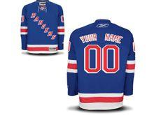 Nhl New York Rangers (custom Made) Light Blue Jersey