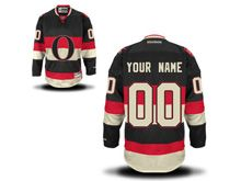 Nhl Ottawa Senators (custom Made) Black&white Jersey
