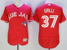Mens Majestic Toronto Blue Jays #37 Jason Grilli Red Flex Base Jersey