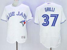 Mens Majestic Toronto Blue Jays #37 Jason Grilli White Flex Base Jersey