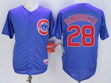 Mens Mlb Chicago Cubs #28 Kyle Hendricks Blue Cool Base Jersey