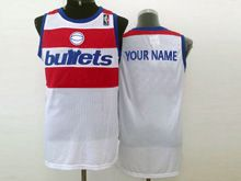 Mens Nba Washington Bullets (custom Made) White Jersey