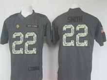 Mens   Minnesota Vikings #22 Harrison Smith Black Salute To Service Limited Jersey